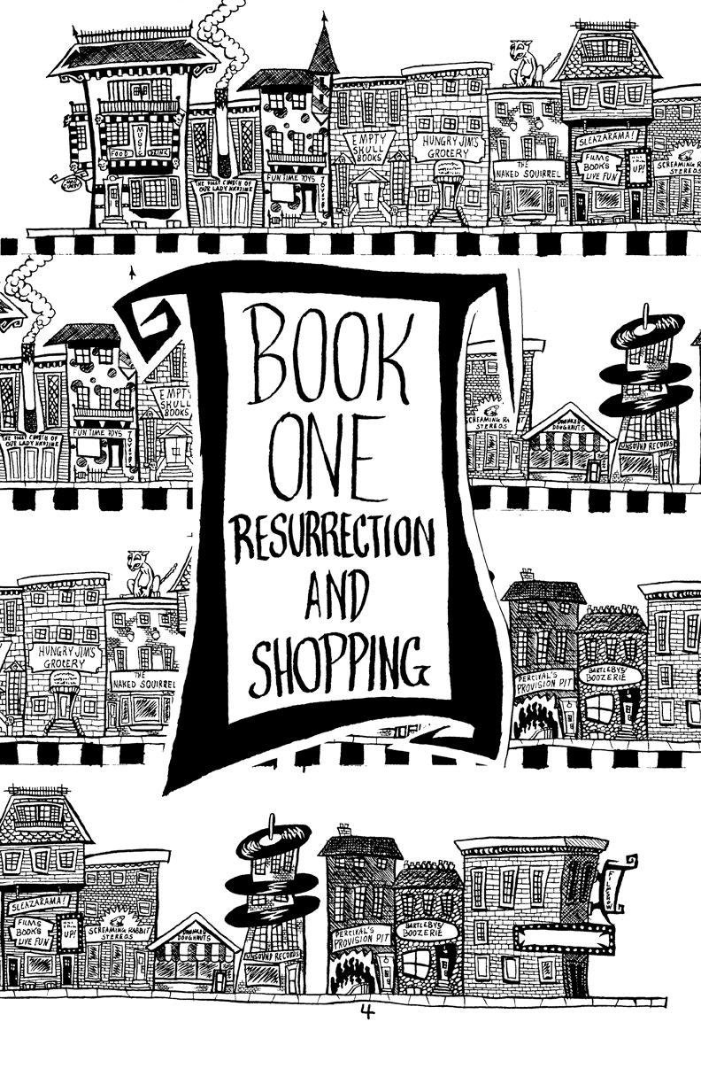 Page 004 – Book One – Resurrection and Shopping – Title Page